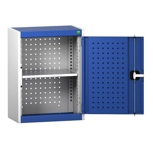 Bott Cubio Wall Cabinet With 1 Shelf And Perfo Storage Doors 700x525x325mm
