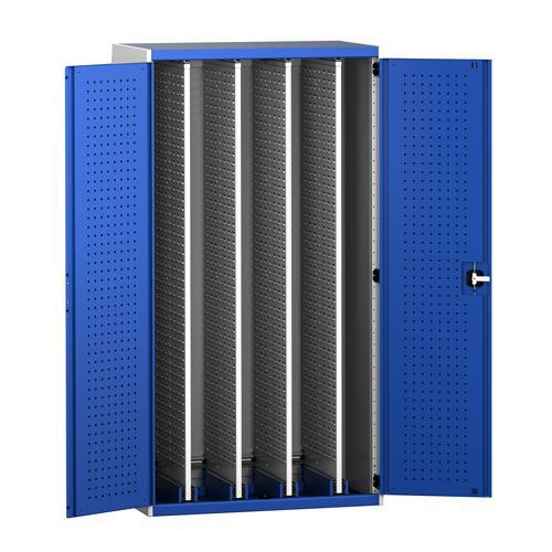 Bott Cubio Tool Cabinet With 4 Louvre Storage Sliding Panels WxD 1050x650mm