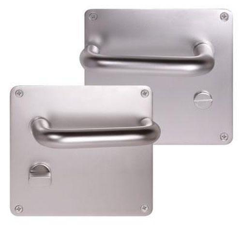 Return to Door Handle Square Plate Aluminium Bathroom Set 20mm
