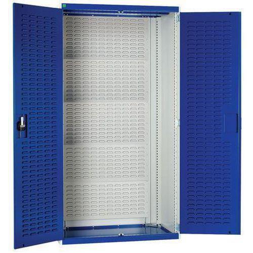 Bott Cubio Metal Storage Cupboard & Louvre Doors HxWxD 2000x1050x650mm