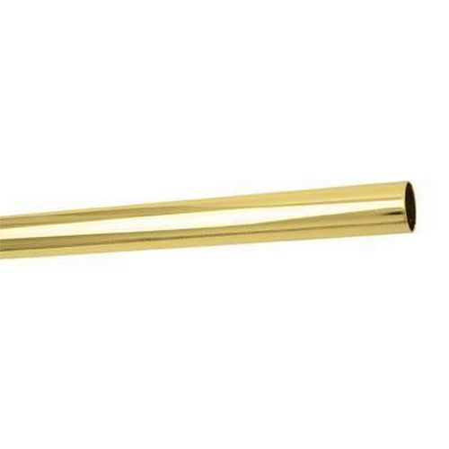 25mm Round Steel Tube - 2500mm Length - Brass Plated