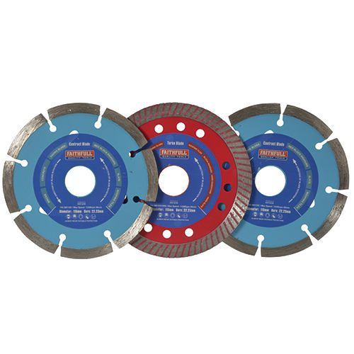 Diamond Blades- Assorted Pack of 3