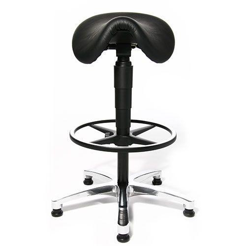 Real Leather Ergonomic Saddle Stool