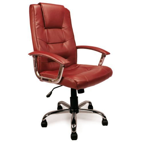Westbourne Red Faux Leather Managers Chair