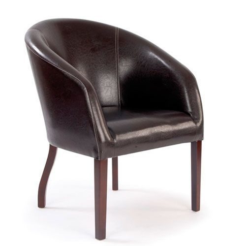 Metro Curved Leather Chair