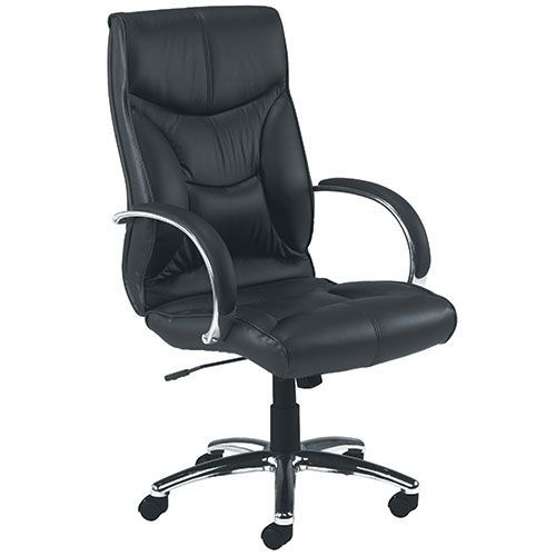Tagus Black Leather Office Chair