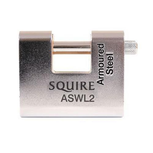 Squire Armoured Steel Shutter Lock - 80mm