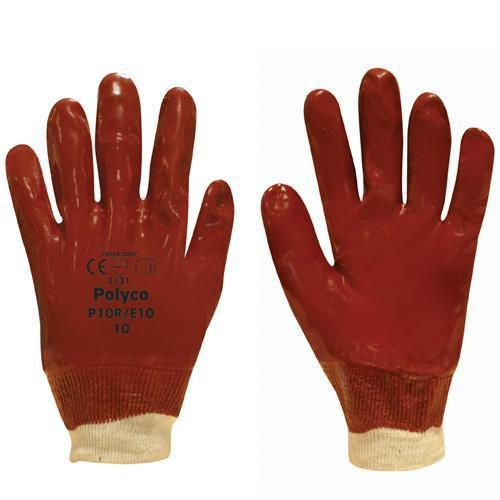PVC Knit Wrist Gloves - Pack of 12