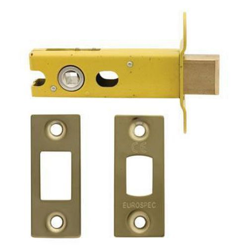 Altro 8mm Tubular Bathroom Deadbolt - 76mm Case - 57mm Backset - Square - PVD Brass