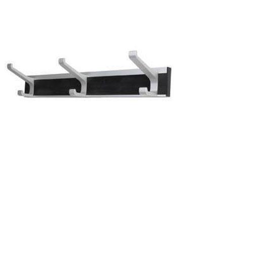 Union Architectural Hat & Coat Hook Rack- 3 Hooks - Silver