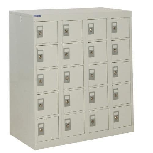 Personal Effects Lockers with Germ Guard - 20 Doors - 940x900x380mm