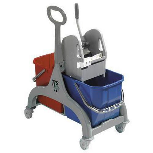 25ltr Double Bucket Trolley With Wringer