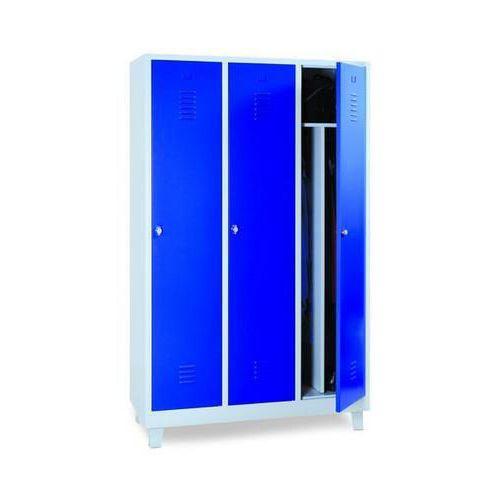 Clean & Dirty Lockers 3 Nest - Grey Body & Cylinder Lock - 1900x1815x500mm
