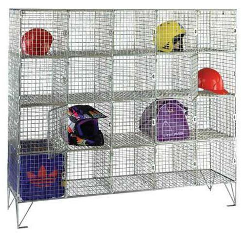 Wire Mesh Lockers 16 Compartments with Doors - 1370x1210x457mm