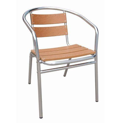 Wood & Aluminium Bistro Chair