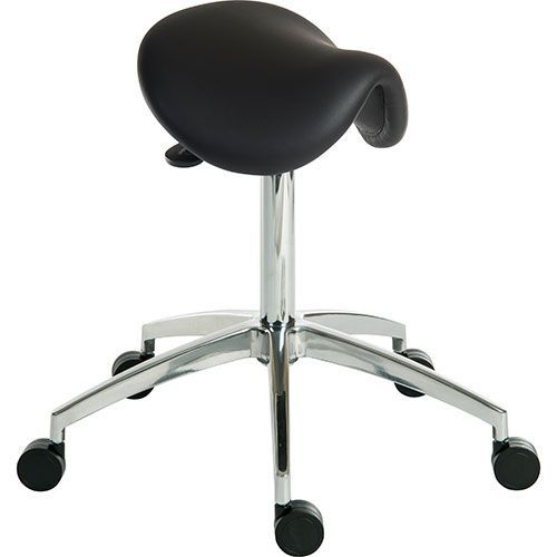 Sit/Stand Cushioned Saddle Stool