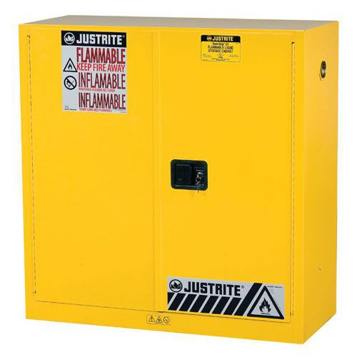 Justrite Small Flammable Storage Cabinet - 1118x1092x457mm