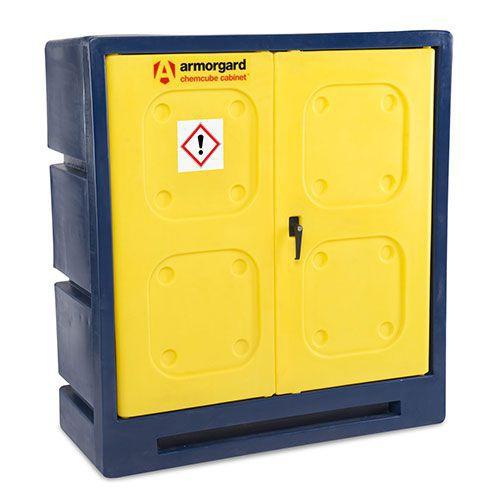 Armorgard Chemcube COSHH Plastic Hazardous Storage Cabinet 1300x1220x550mm