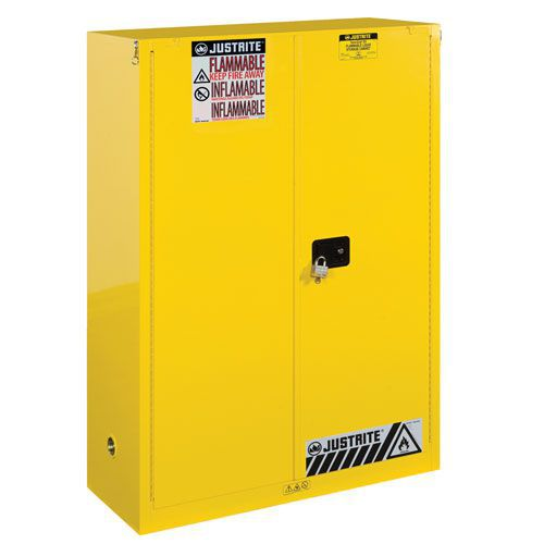 Justrite Self Close Flammable Storage Cabinet 1651x1092x457mm