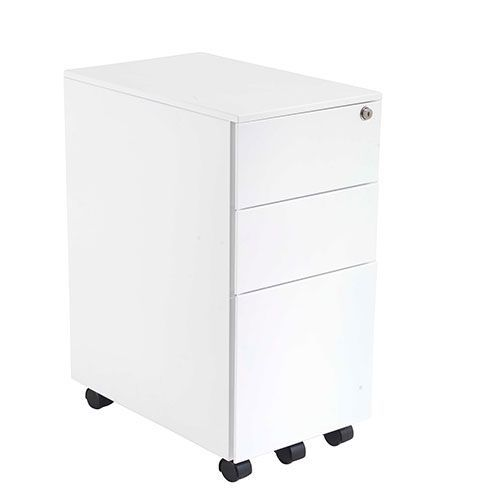 Contemporary 3 Drawer Steel Mobile Pedestal
