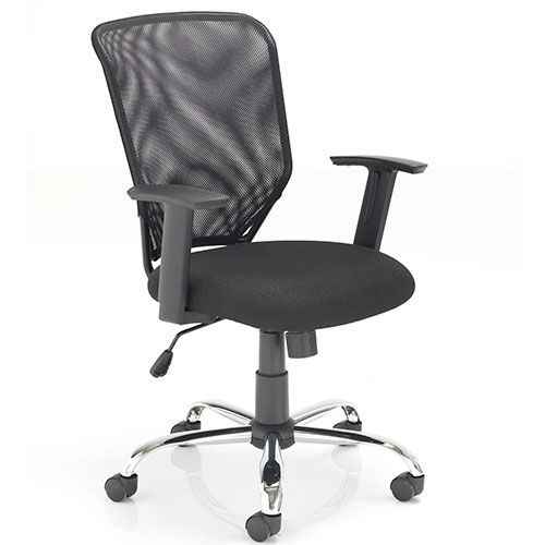 Stellar Mesh Back Operator Chair with Fixed Arms