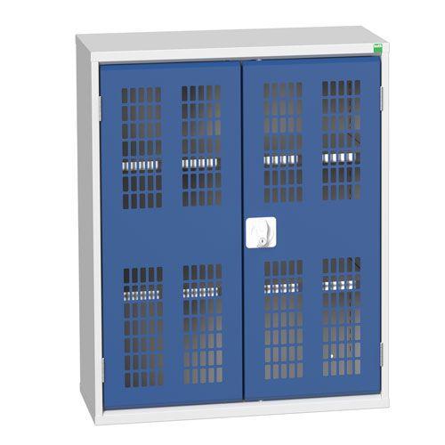Bott Verso 2 Shelf Metal Cupboard Ventilated Doors Wxd