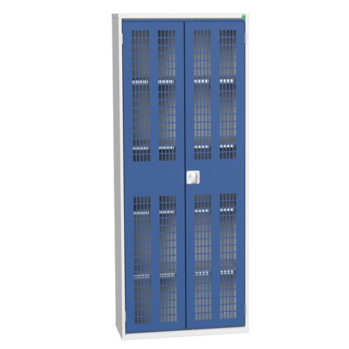 Bott Verso 4 Shelf Ventilated Metal Storage Cupboard HxW 2000x800mm