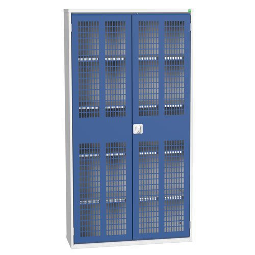 Bott Verso 4 Shelf Ventilated Metal Storage Cupboard WxD 1050x550mm