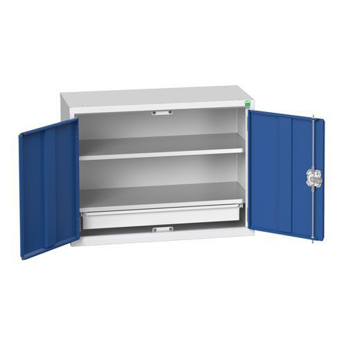 Bott Verso 2 Shelf 1 Drawer Wall Mounted Metal Cabinet HxW 600x800mm