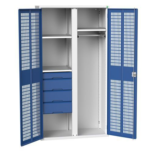 Bott Verso Shelf/Drawer Ventilated PPE Metal Cabinet HxW 2000x1050mm