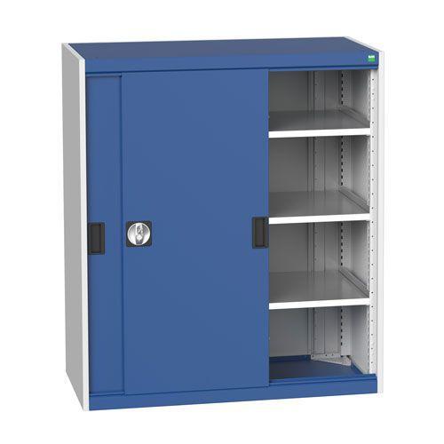 Bott Cubio Sliding Door Metal Storage Cabinet HxW 1200x1050mm