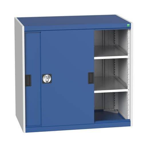 Bott Cubio Sliding Door Metal Storage Cabinet HxW 1000x1050mm