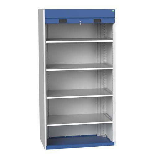 Bott Cubio Roller Shutter Metal Cabinet With 4 Shelves 2000x1050x650mm