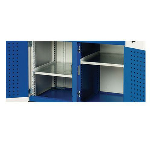 Bott Cubio Galvanised Steel Shelving Kit 400x525mm