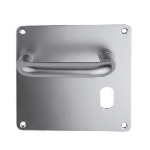 Return to Door Handle Square Plate Oval Lock Set 20mm