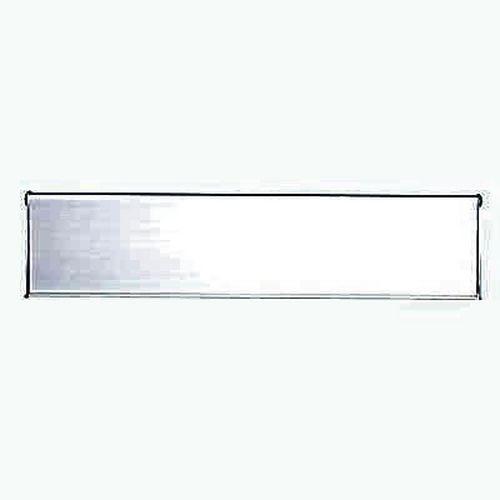 Outer Letter Plate - 254 x 75mm - Satin Aluminium