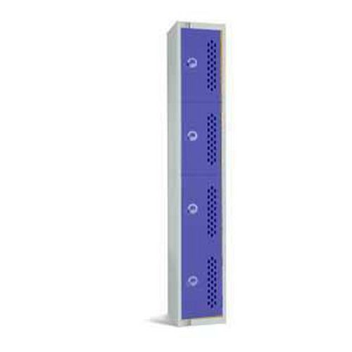 Lockers with 4 Perforated Doors - 1800x300x300mm