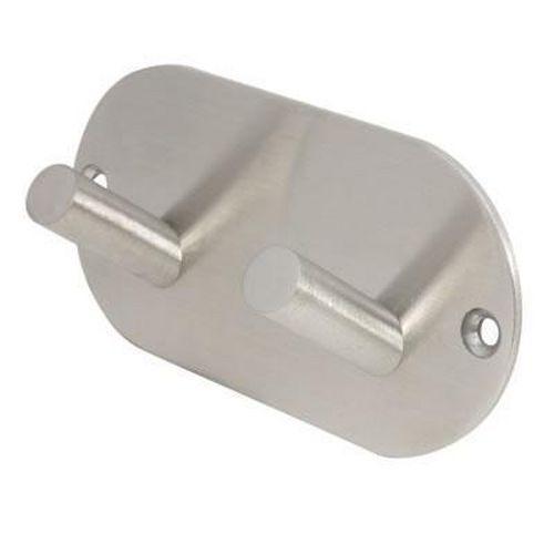 Jedo Radius Hook Plate Satin Stainless Steel