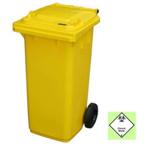 Clinical Waste Wheelie Bins - 2 Wheels
