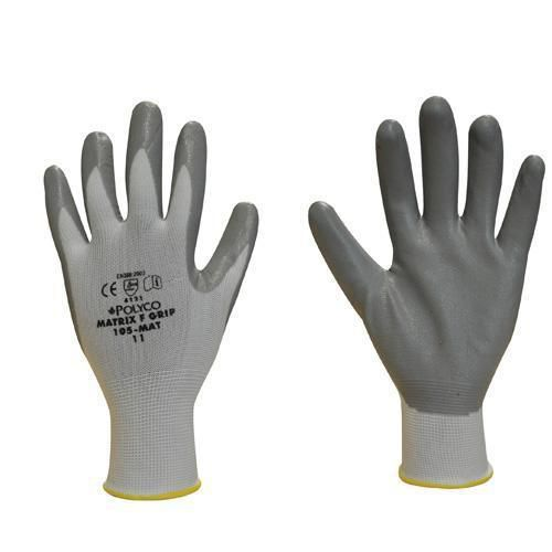 Lightweight Nylon/Nitrile Gloves - Pack of 12