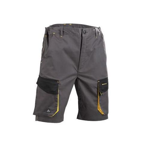 D Mach Work Shorts Grey/Yellow