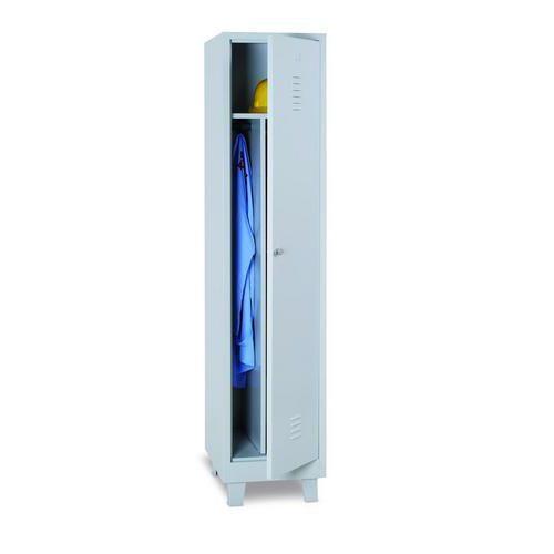 Clean & Dirty Locker - Grey Body & Cylinder Lock - 1900x415x500mm