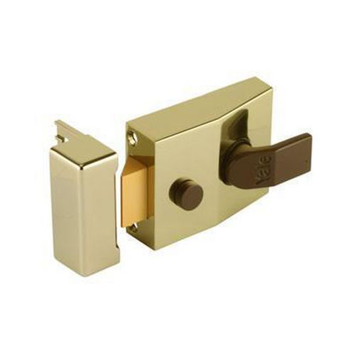 Yale 89 Double Locking Nightlatch - 60mm Backset - Brass Case/Cylinder