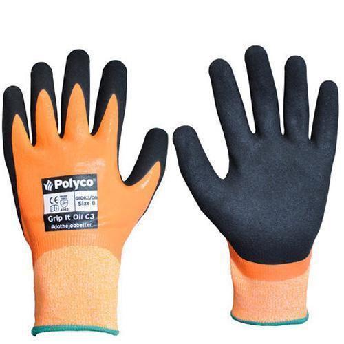 Polyco Grip It Oil C3 Cut Resistant Gloves - 1 Pair