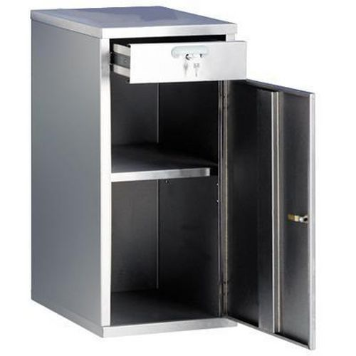 Stainless Steel Half Height Cupboard - Single Door