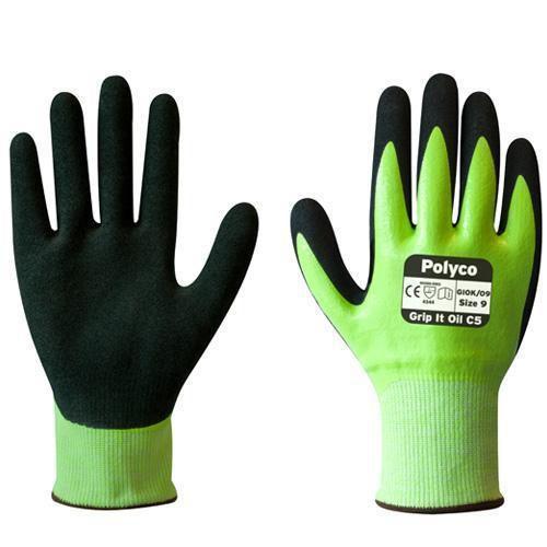 Polyco Grip It Oil C5 Cut Resistant Gloves - 1 Pair