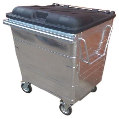 Galvanised Steel Wheelie Bins - 4 Wheels