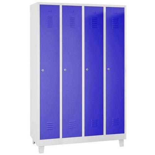 Tall Metal Storage Lockers - Unit Of 4 - Hasp Lock & 4 Feet - Manutan