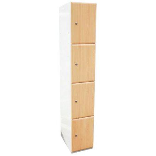 Wood Effect Laminate Lockers 4 Door - 1800x380x380mm