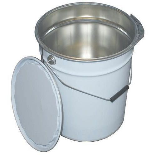 6 Tapered Tinplate Pails with Ring Latch Lids